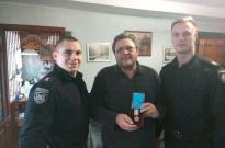 Представники ННІ № 2 вручили ветерану заслужену нагороду Фото