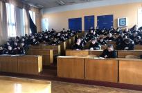Лекція на тему «Тактика дій поліцейського щодо забезпечення публічної безпеки й порядку під час виборчого процесу. Фото
