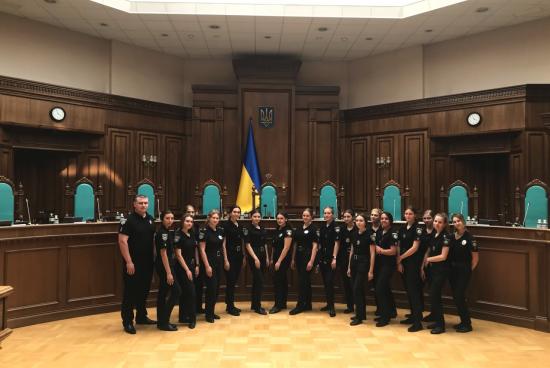 В рамках відзначення Дня Конституції України, курсанти з екскурсією відвідали Конституційний суд України